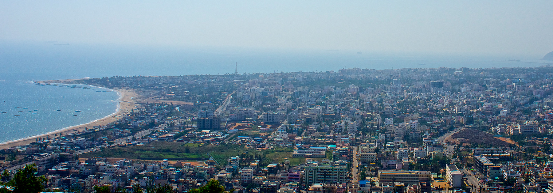 A view of Visakhapatnam from the city's Kailasagiri Park (Av9, licensed under CC BY-SA 4.0)