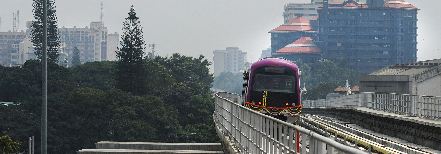 The Bangalore Metro Rail Corporation's Namma metro train. (DIBYANGSHU SARKAR/AFP/Getty Images)