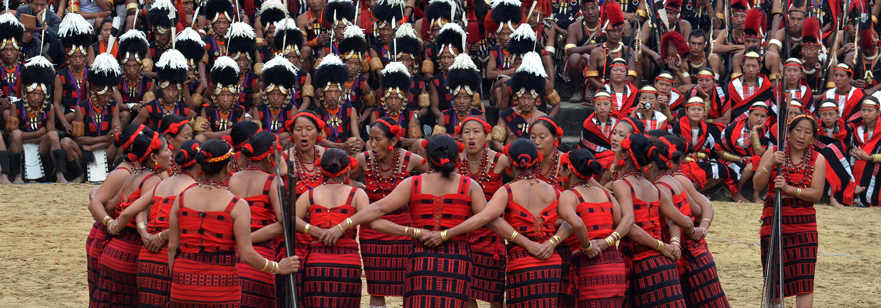 Members of the Naga tribe look on during the annual Hornbill Festival at Kisama village. (CHANDAN KHANNA/AFP/Getty Images)