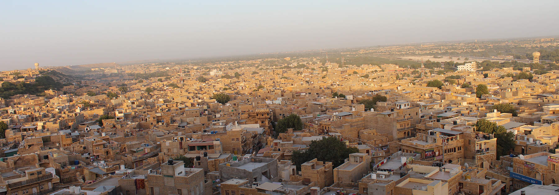 "A view of the ""Golden City"", Jaisalmer, from the top of the Jaisalmer fort. (Vivek2285, licensed under CC BY-SA 4.0)"